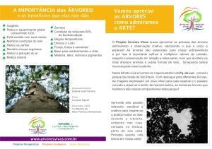 Folheto Visita Árvores do Parque da Luz - frente
