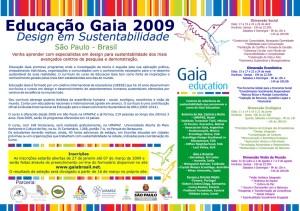 Curso Educação Gaia São Paulo - 2009