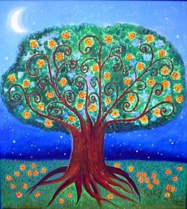 """""""lua-crescente"""" quadro de Everly Giller"""