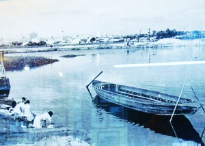 lavadeiras na marginal do Rio Tietê na década de 40