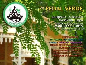 Flyer Divulgação 7.o Pedal Verde