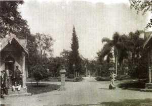 Entrada principal do Jardim da Luz cerca de 1900 - Convite para a inauguração da exposição