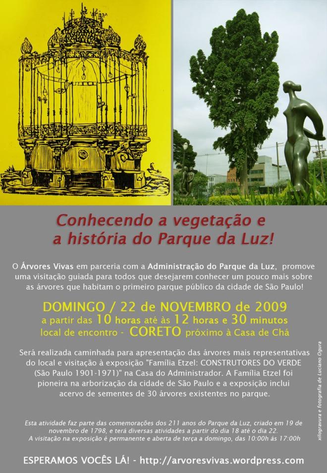 Caminhada Educativa sobre as Árvores e História do Parque da Luz