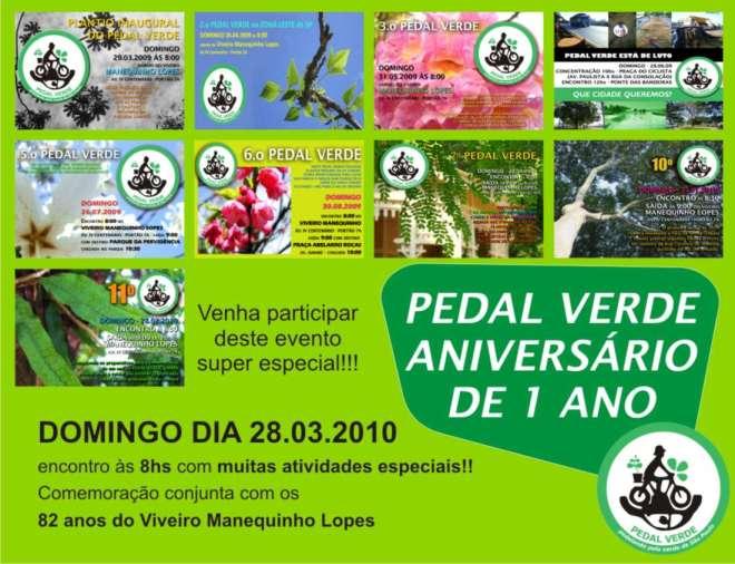 Convite Pedal Verde - 28 de março - domingo