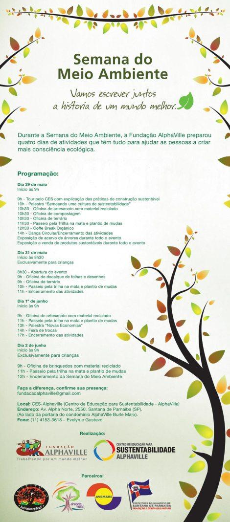 Convite Semana do Meio Ambiete