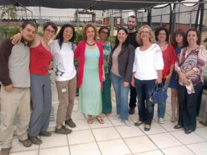 Carol Enguetsu Lefevre, Caren Lissa e convidados na Festa de despedida da Carol no Espaço e Viveiro Árvores Vivas
